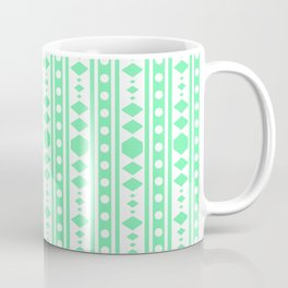 Mint Tribal Pattern Coffee Mug