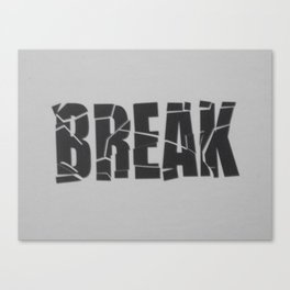 Broken Word Canvas Print