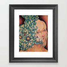 Seeping Framed Art Print