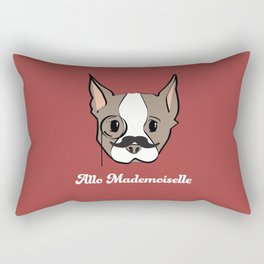 Ollie, Dapperdog says Allo Rectangular Pillow