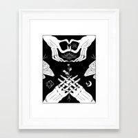 moth Framed Art Prints featuring Moth by Nick Iluzada