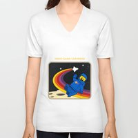 spaceman V-neck T-shirts featuring Spaceman by Yoel