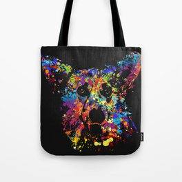 Colorful  Corgi Portrait Tote Bag