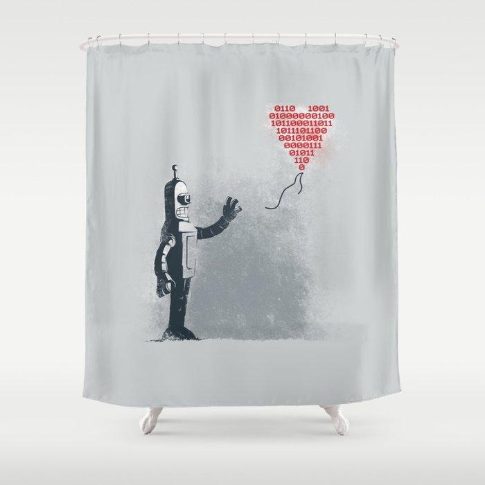 Binary Art Shower Curtain