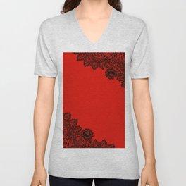 Lace design 4. Unisex V-Neck