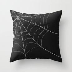 SPIDERWEB SPOOKNESS Throw Pillow