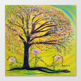 A Tree Planted by the Water Canvas Print