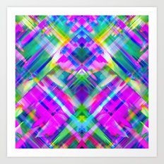 Colorful digital art splashing G469 Art Print