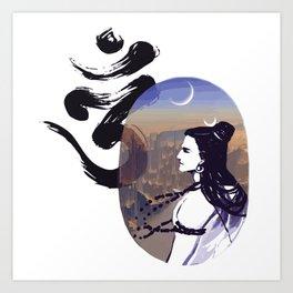 Mood Rising Sci-fi Ohm Art Print