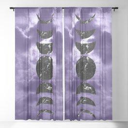 Marbled Moon Phases #3 #decor #art #society6 Sheer Curtain