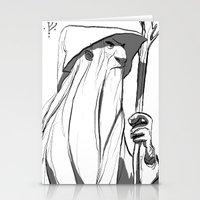 gandalf Stationery Cards featuring Gandalf by 4nima