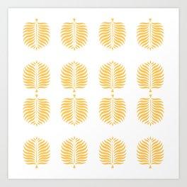TROPICAL PALMS . CANTALOUPE Art Print
