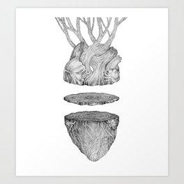 Heart/Wood Art Print