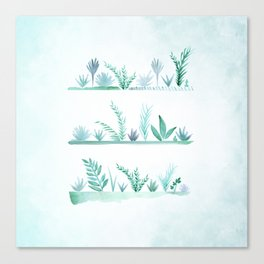 Beach Garden Vignettes Canvas Print