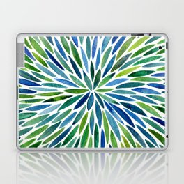 Watercolor Burst – Blue & Green Laptop & iPad Skin