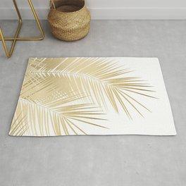 Gold Palm Leaves Dream - Cali Summer Vibes #1 #tropical #decor #art #society6 Rug
