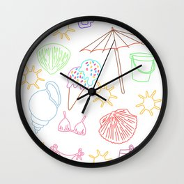 A day at the beach #5 Wall Clock