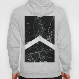 Arrows - Black Granite & White Marble #992 Hoody