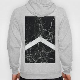 Arrows - Black Granite & White Marble #992 Hoody
