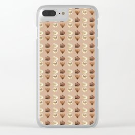 Chocolate hearts Clear iPhone Case