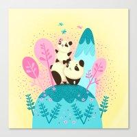 pandas Canvas Prints featuring pandas by Caramela