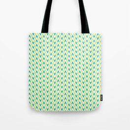 Frequen-Ziggs (Lime Green) Tote Bag