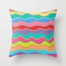 Wavy Dots Throw Pillow