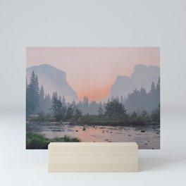 Yosemite Valley Sunrise Pretty Pink Mini Art Print