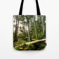 forrest Tote Bags featuring Forrest by ILIA PHOTO + CINEMA