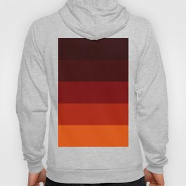 Orange Ombre Stripes Hoody
