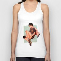 haikyuu Tank Tops featuring Akaashi is pretty by NoranB