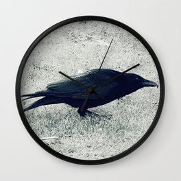 dark crow Wall Clock