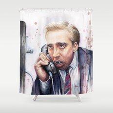 Nicolas Cage Vampire Meme Shower Curtain