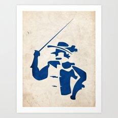 Cyrano de Bergerac - Digital Work Art Print