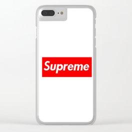 Supreme Clear iPhone Case