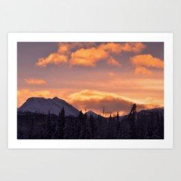 Flat Top Sunrise Art Print
