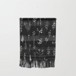 Black wildflowers Wall Hanging
