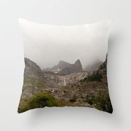 Majestic Mountain Landscape Alps Throw Pillow