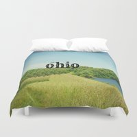 ohio Duvet Covers featuring Hello Ohio by KimberosePhotography