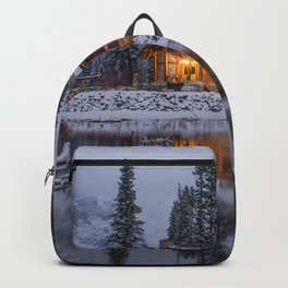 Cabin in Winter Woods (Color) Backpack