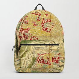 Vintage Map of Vienna Austria (1710) Backpack