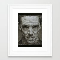 benedict cumberbatch Framed Art Prints featuring Benedict Cumberbatch by Bungle