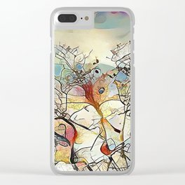 Tree Abstract Clear iPhone Case