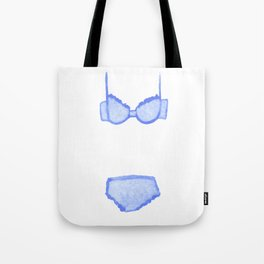 Blue Undies Tote Bag