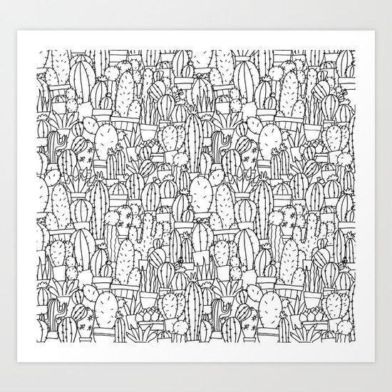 Cool as a Cactus Art Print