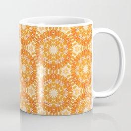 Marigold Kaleidoscope Peach and Burnt Sienna Coffee Mug