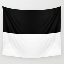 Black and white - Half and Half Split Wall Tapestry