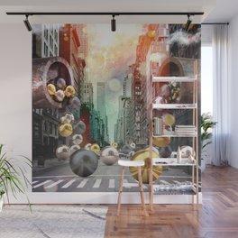 New York City Spill Wall Mural