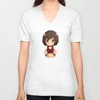 vocaloid V-neck T-shirts featuring Meiko by Nozubozu
