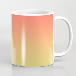 Orange Coral Yellow Gradient Ombre Pattern Coffee Mug